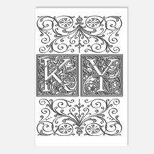 KY, initials, Postcards (Package of 8)