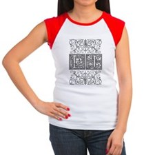 LJ, initials, Women's Cap Sleeve T-Shirt