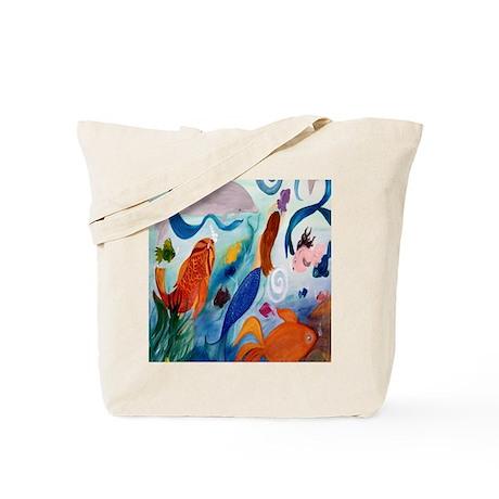 Tropical Fish and Mermaid Party Tote Bag