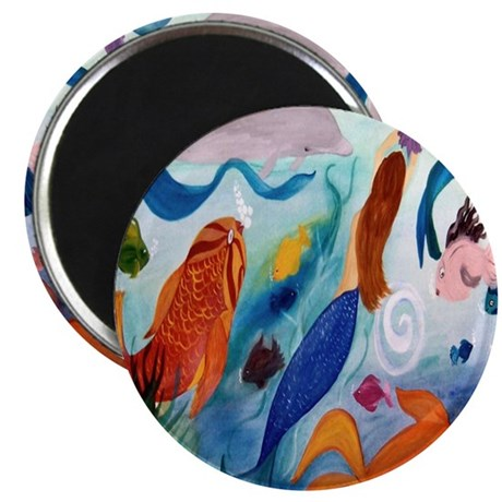 Tropical Fish and Mermaid Party Magnet
