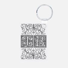 JB, initials, Aluminum Photo Keychain