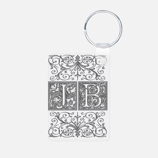 JB, initials, Aluminum Photo Keychain