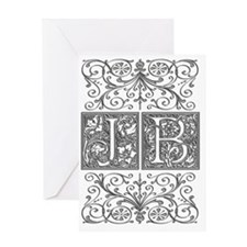 JB, initials, Greeting Card