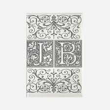 JB, initials, Rectangle Magnet