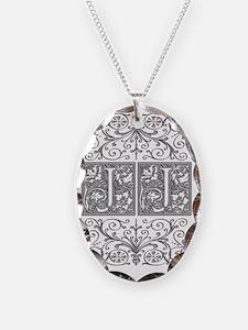 JJ, initials, Necklace