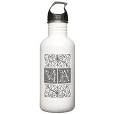 MA, initials, Water Bottle