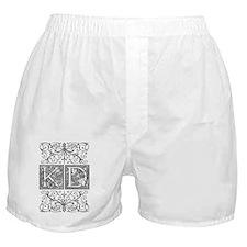 KD, initials, Boxer Shorts