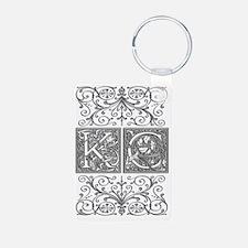KC, initials, Keychains