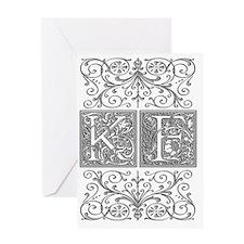 KF, initials, Greeting Card
