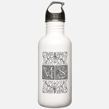 MS, initials, Water Bottle