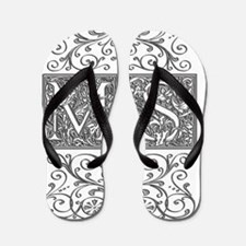 MS, initials, Flip Flops