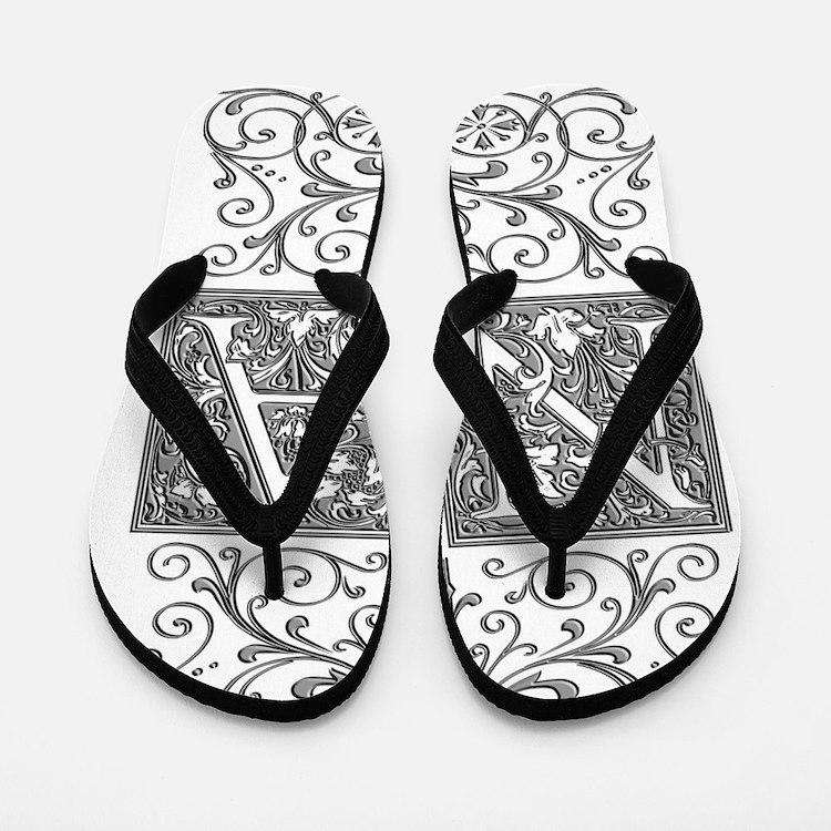 NA, initials, Flip Flops