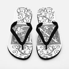 ND, initials, Flip Flops