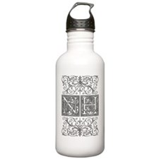 NH, initials, Water Bottle