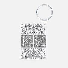 KU, initials, Keychains