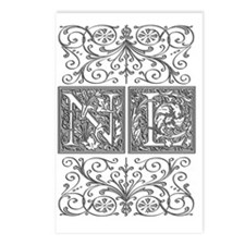 NL, initials, Postcards (Package of 8)