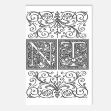 NT, initials, Postcards (Package of 8)