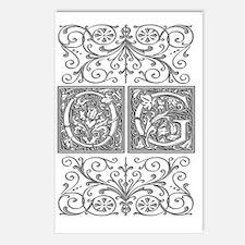 OG, initials, Postcards (Package of 8)