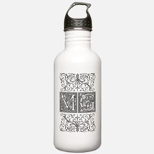 MG, initials, Water Bottle