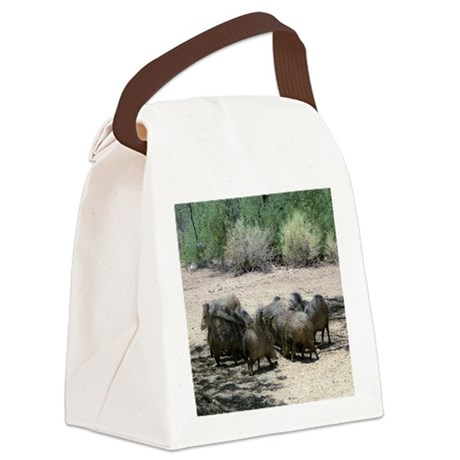 Javelina - Wild Pigs Canvas Lunch Bag