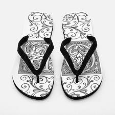 OP, initials, Flip Flops