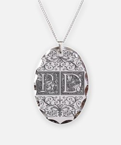 PD, initials, Necklace