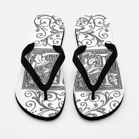 PD, initials, Flip Flops