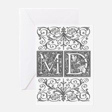 MD, initials, Greeting Card