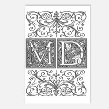 MD, initials, Postcards (Package of 8)