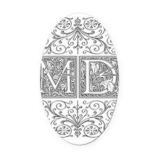MD, initials, Oval Car Magnet