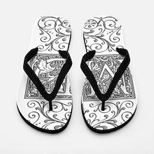 MD, initials, Flip Flops