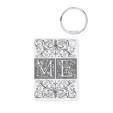 ME, initials, Aluminum Photo Keychain