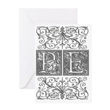 PE, initials, Greeting Card