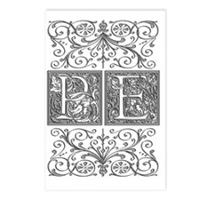 PE, initials, Postcards (Package of 8)