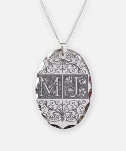 MJ, initials, Necklace