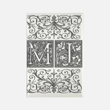MJ, initials, Rectangle Magnet