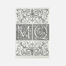 MQ, initials, Rectangle Magnet