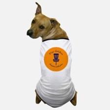 Orange Disc golf Disc Dog T-Shirt