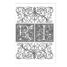 RI, initials, Postcards (Package of 8)