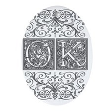 OK, initials, Oval Ornament