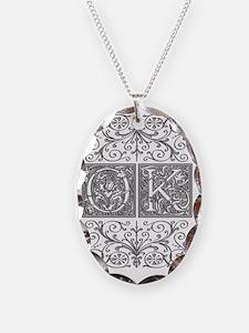 OK, initials, Necklace