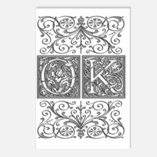 OK, initials, Postcards (Package of 8)