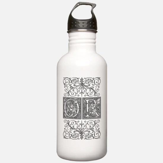 OR, initials, Water Bottle