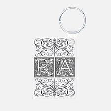 RA, initials, Keychains