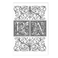 RA, initials, Postcards (Package of 8)