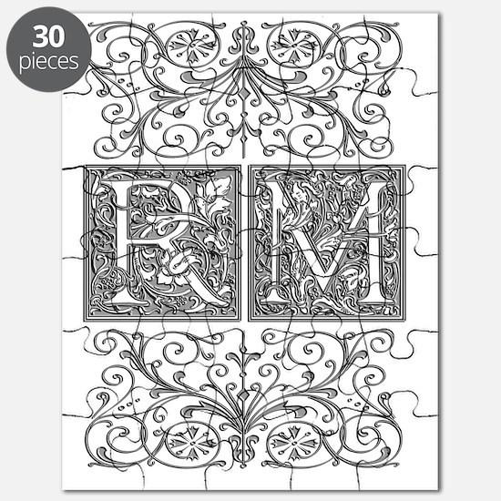 RM, initials, Puzzle