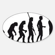 evolution saxophone player Sticker (Oval)