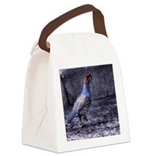 Gambel Quail Canvas Lunch Bag