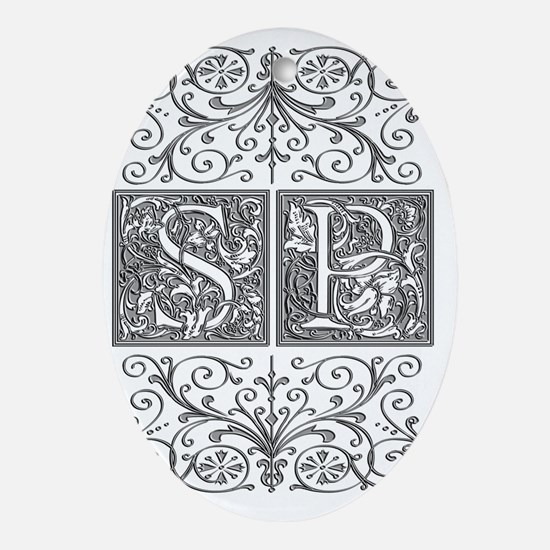 SP, initials, Oval Ornament