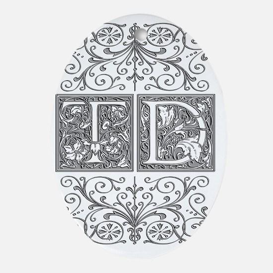 TD, initials, Oval Ornament